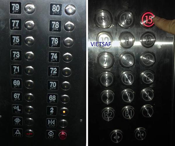 Bảng điều khiển thang máy, nút bấm thang máy